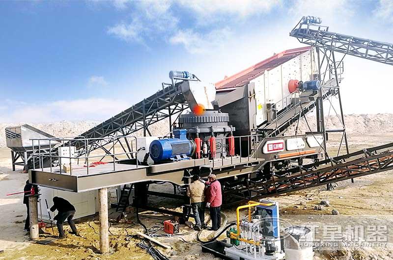 百老汇官网移动式水泥块粉碎机