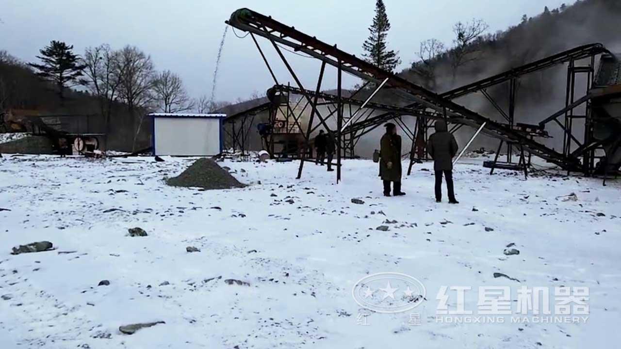 煤矸石破碎生产线作业视频-吉林客户现场