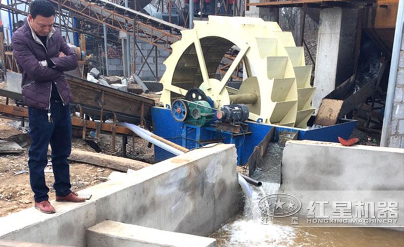河北用户石粉生产现场