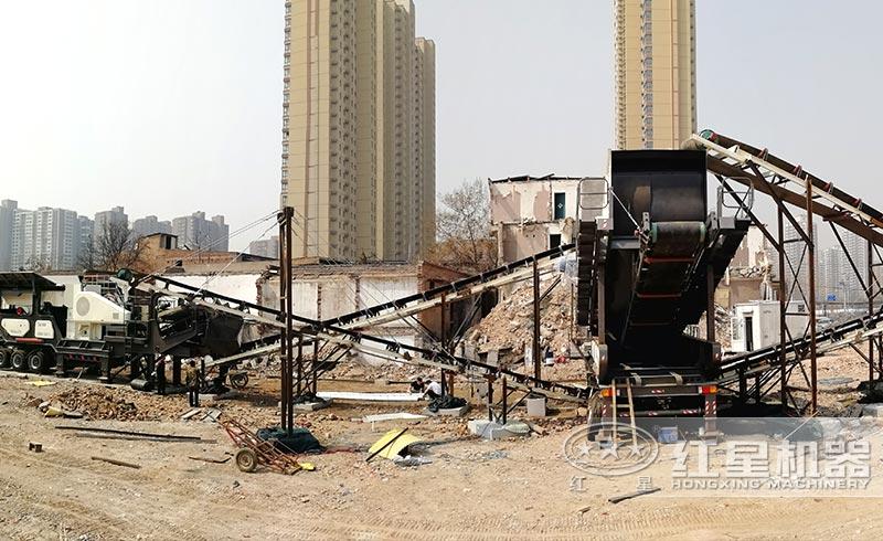 西安客户建筑垃圾处理现场