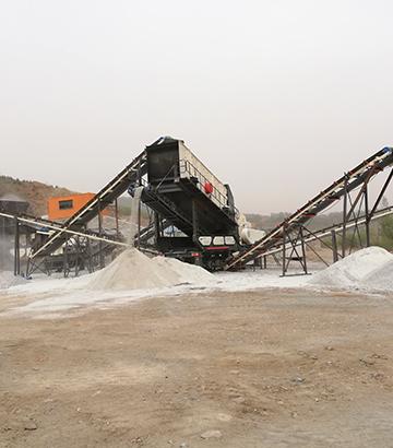 日产2000吨移动式破碎机长春生产现场