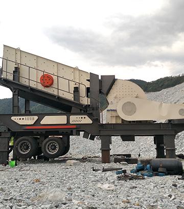 日产3000方移动式石子破碎机再次发往安徽