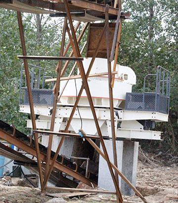 安徽芜湖时产200吨制砂生产线现场