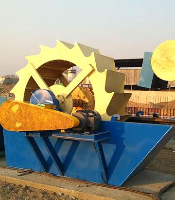 洗砂机生产线-赞比亚客户作业现场