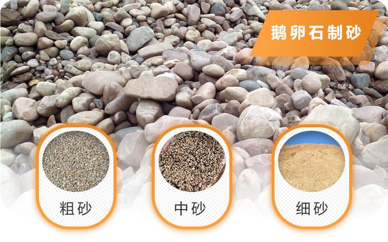 经过流动制沙机处理后成品沙子