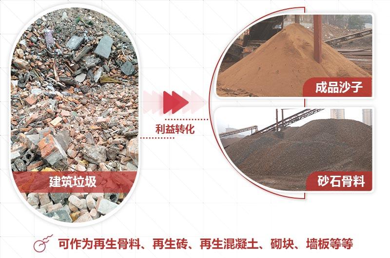 建筑垃圾制砂后成品