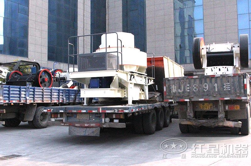 全套花岗岩制沙生产线设备发往江苏