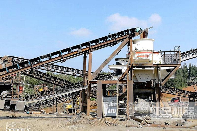时产100吨石英砂猫砂生产线现场