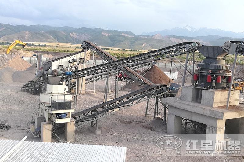 吉尔吉斯坦客户粉碎石头成沙子厂