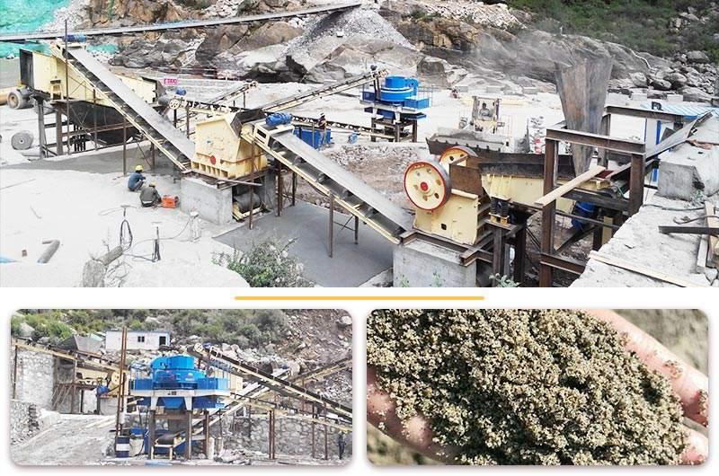 山东机制砂生产线现场图
