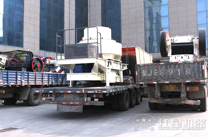 全套煤矸石制砂机设备发货