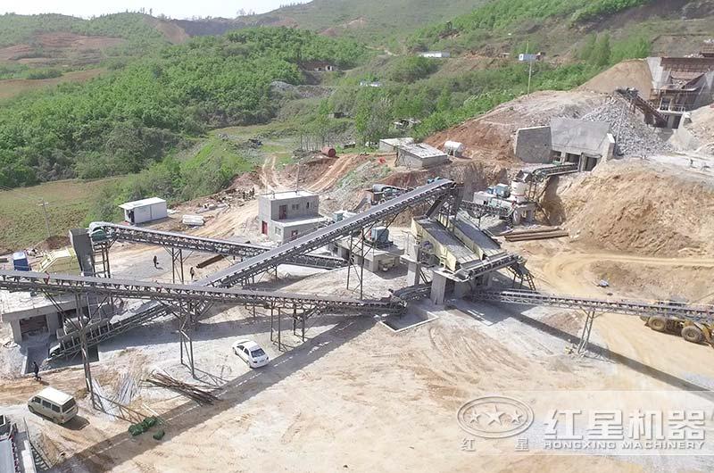 河南客户大型破碎石子生产线