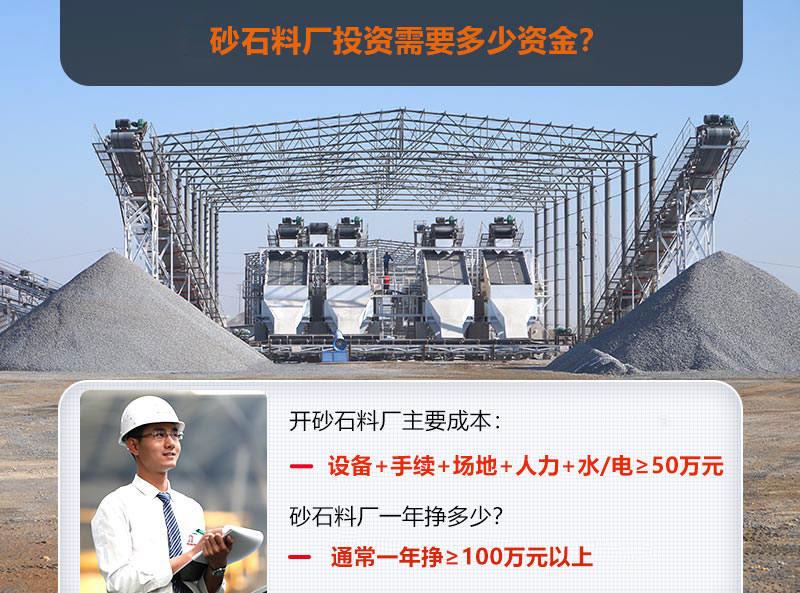投资一个砂石料厂成本与利润