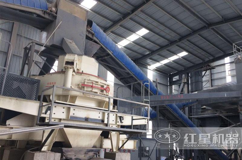 时产50吨磨石粉机生产现场