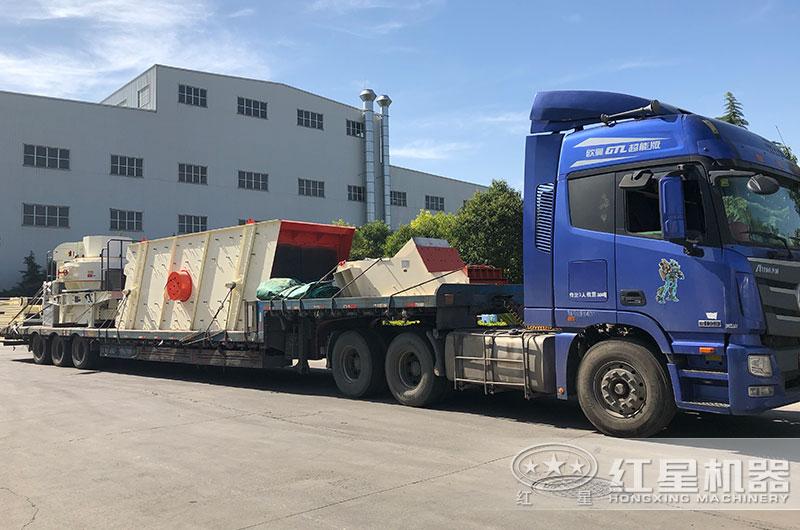 时产50吨小型干式制砂机发往山东