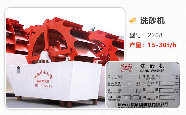 图1:2208型号水洗石粉设备、单轮