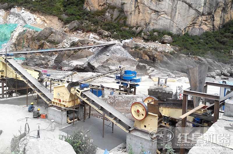 石灰石破碎生产工艺流程现场实拍图