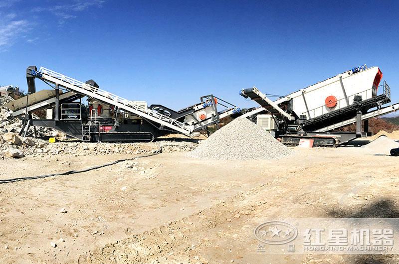 履带移动破碎机占地面较小、破碎效率高