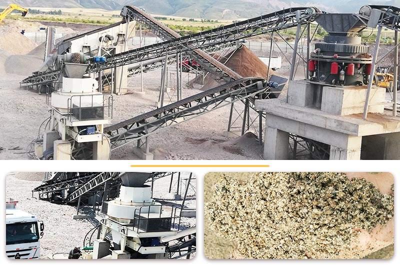 河卵石制砂整套生产线及其成品图