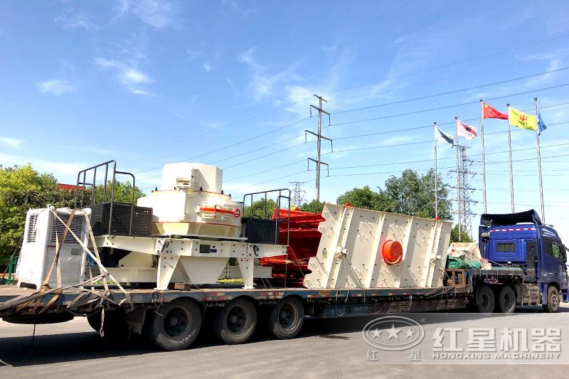 河南百老汇官网制砂厂家直销,发货出厂运往客户生产场地
