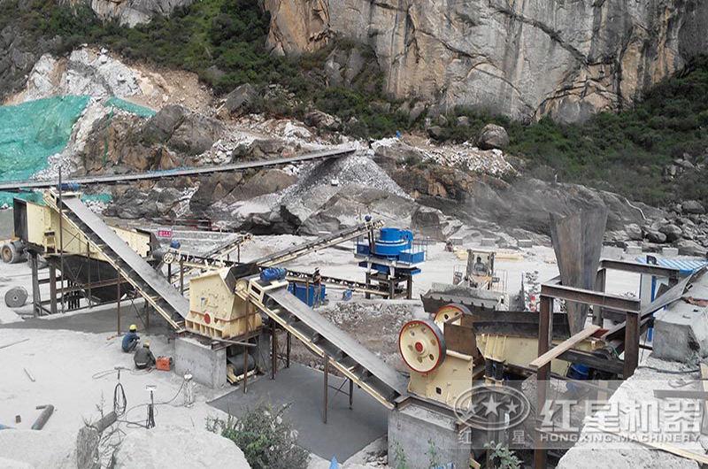 时产50吨碎石机投产使用现场