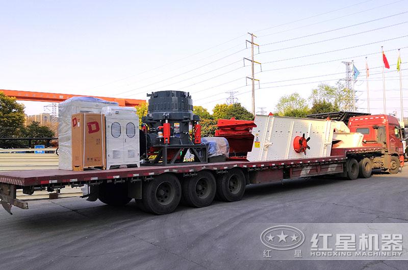 河南pt真人平台时产50吨碎石机出厂发货