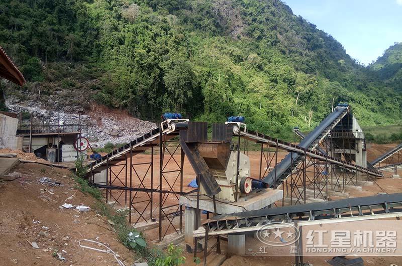 河南安阳某地时产50吨碎石机配置现场
