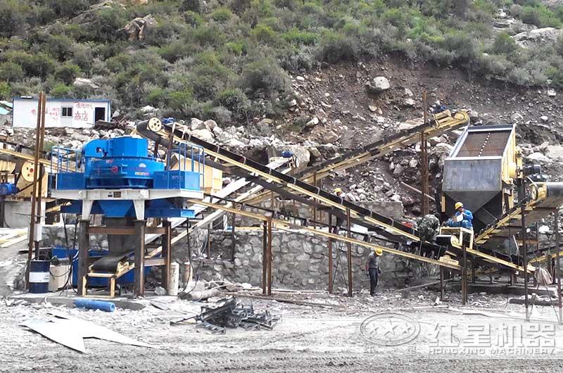 时产30吨大型沙场设备配置现场