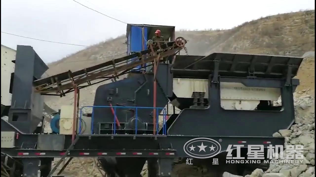 山东移动式破碎生产线视频